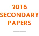 2016 Secondary Papers